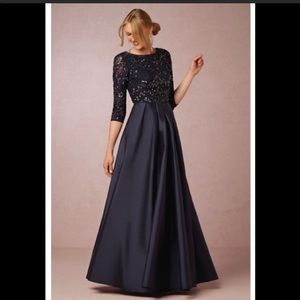 BHLDN Viola Dress in Navy by Aidan Mattox